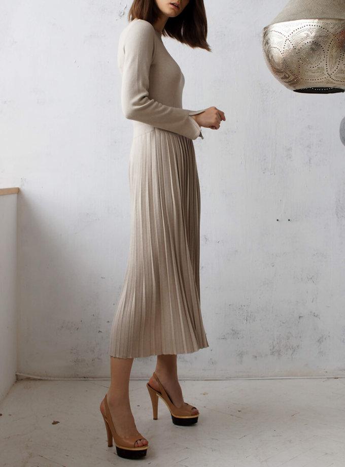 Платье с плиссированной юбкой NBL_09-PTV, фото 1 - в интернет магазине KAPSULA