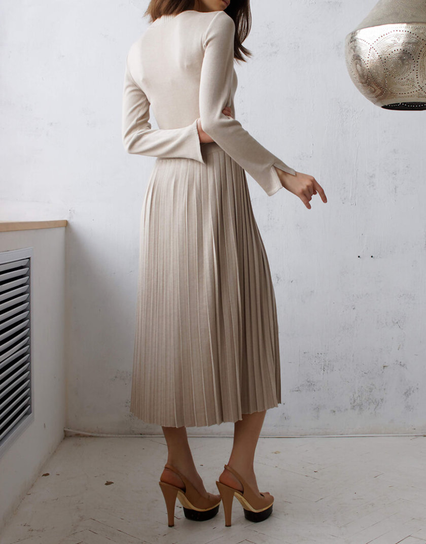 Платье с плиссированной юбкой NBL_09-PTV, фото 1 - в интеренет магазине KAPSULA