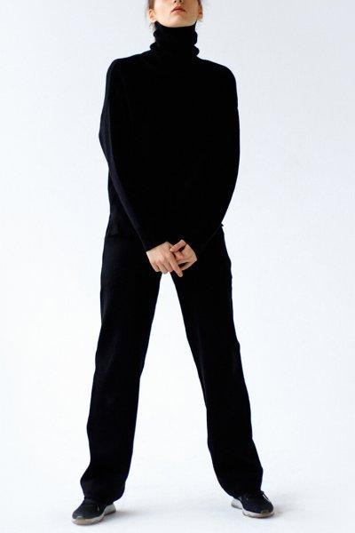 Вязаный костюм из шерсти NBL_10-KBW-black, фото 1 - в интеренет магазине KAPSULA