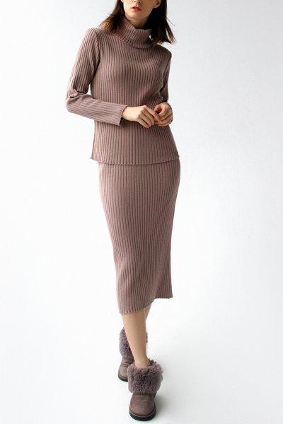 Вязаный костюм с шапкой FRBC_12-KTU-pink, фото 1 - в интеренет магазине KAPSULA