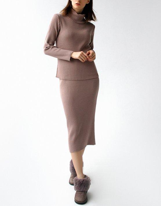 Вязаный костюм с шапкой FRBC_12-KTU-pink, фото 5 - в интеренет магазине KAPSULA