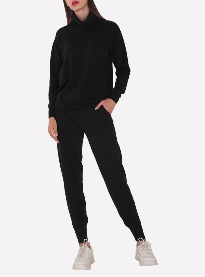 Мериносовые брюки-джогеры JND_19-012109-black, фото 1 - в интернет магазине KAPSULA