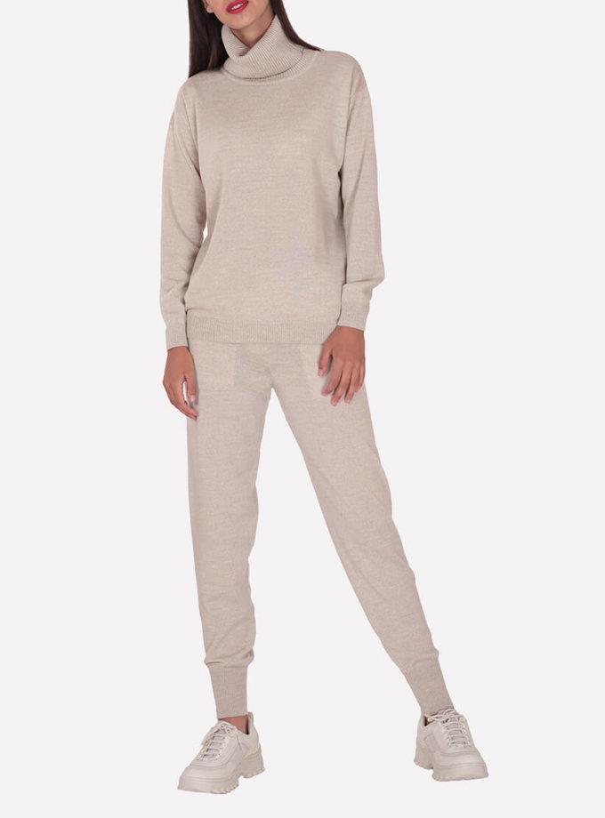 Мериносовые брюки-джогеры JND_19-012109-beige, фото 1 - в интернет магазине KAPSULA
