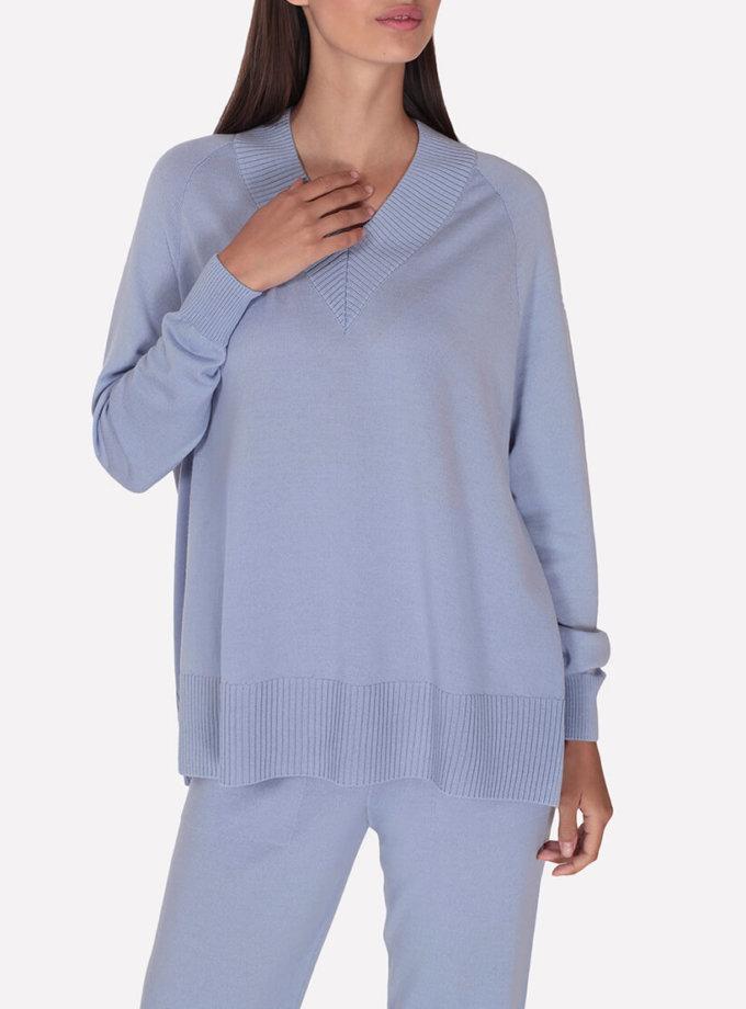 Объемный  мериносовый джемпер JND_18-010222-light-blue, фото 1 - в интернет магазине KAPSULA