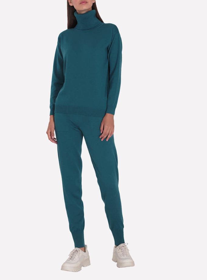 Мериносовые брюки-джогеры JND_19-012109-turquoise, фото 1 - в интернет магазине KAPSULA