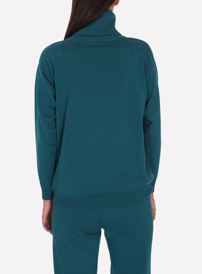 Мериносовый  свитер JND_16-010216-turquoise, фото 1 - в интеренет магазине KAPSULA