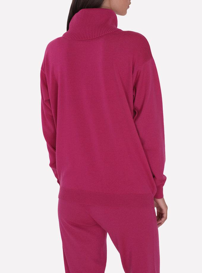 Мериносовый  свитер JND_16-010216-redpink, фото 1 - в интеренет магазине KAPSULA