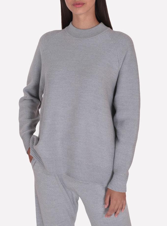 Мериносовый  джемпер JND_18-010226-gray, фото 1 - в интеренет магазине KAPSULA