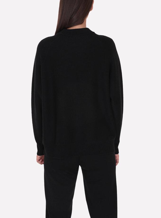 Мериносовый  джемпер JND_18-010226-black, фото 1 - в интеренет магазине KAPSULA