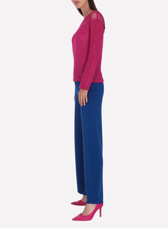 Широкие брюки из шерсти JND_16-012104-blue, фото 1 - в интернет магазине KAPSULA