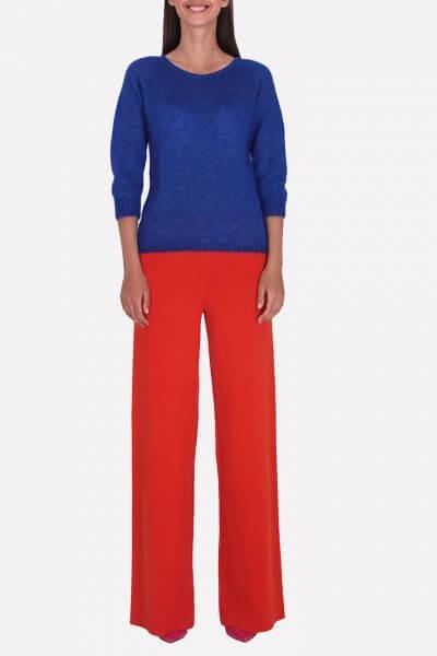 Широкие брюки из шерсти JND_16-012104-orange, фото 1 - в интеренет магазине KAPSULA
