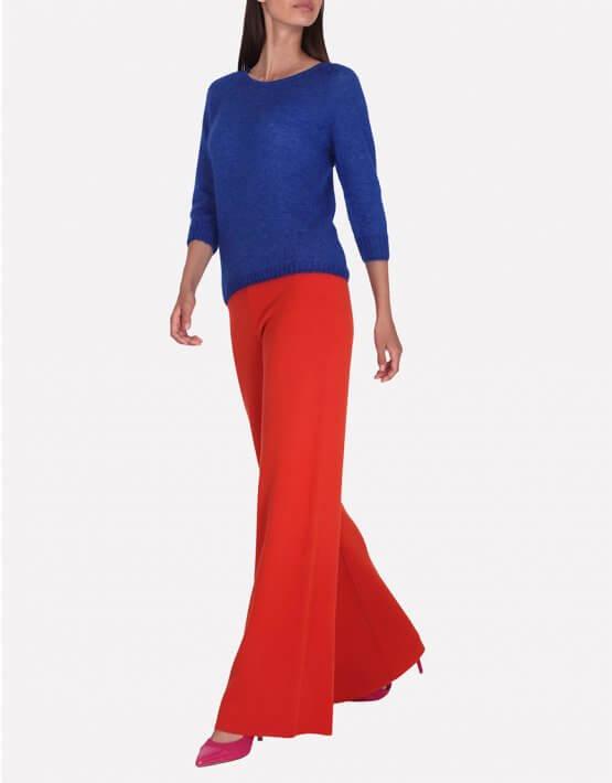 Широкие брюки из шерсти JND_16-012104-orange, фото 5 - в интеренет магазине KAPSULA