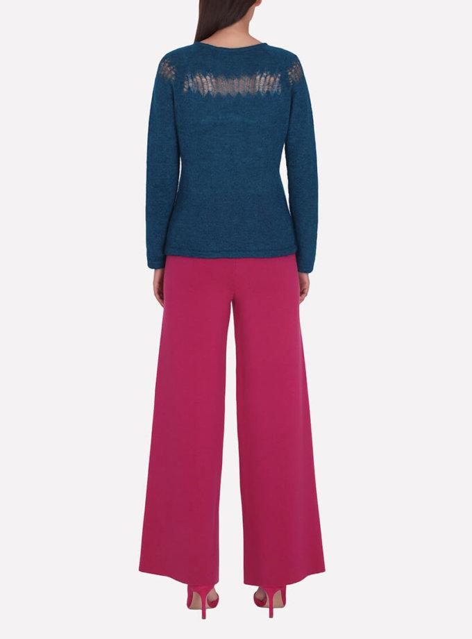 Широкие брюки из шерсти JND_16-012104-redpink, фото 1 - в интернет магазине KAPSULA