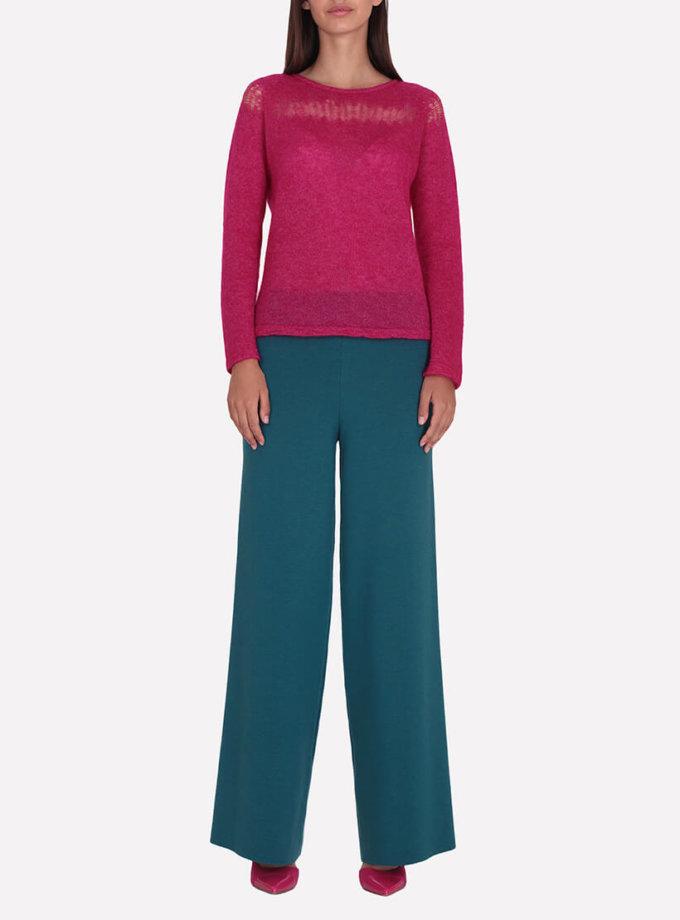 Широкие брюки из шерсти JND_16-012104-turquoise, фото 1 - в интернет магазине KAPSULA