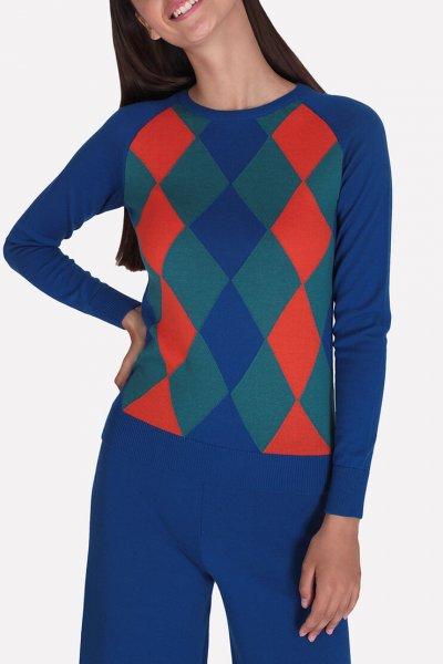 Джемпер из мериносовой шерсти JND_19-010228-blue, фото 1 - в интеренет магазине KAPSULA
