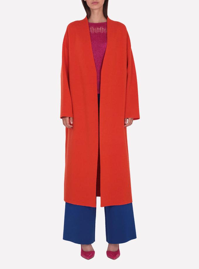 Вязаное пальто из мериносовой шерсти JND_19-012004-orange, фото 1 - в интеренет магазине KAPSULA