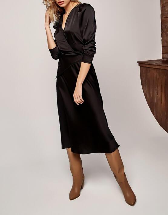 Платье с декоративной косынкой KS_AND_FW-21-38, фото 3 - в интеренет магазине KAPSULA