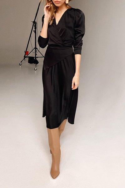 Платье с декоративной косынкой KS_AND_FW-21-38, фото 1 - в интеренет магазине KAPSULA