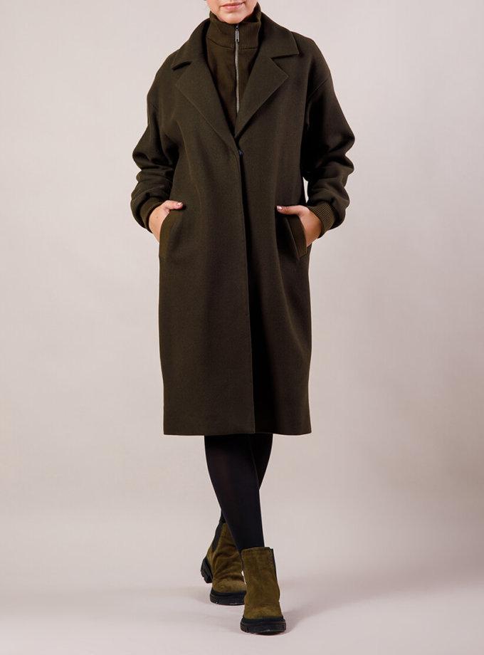 Зимнее пальто с воротом-стойкой MMT_19-13-khaki, фото 1 - в интернет магазине KAPSULA