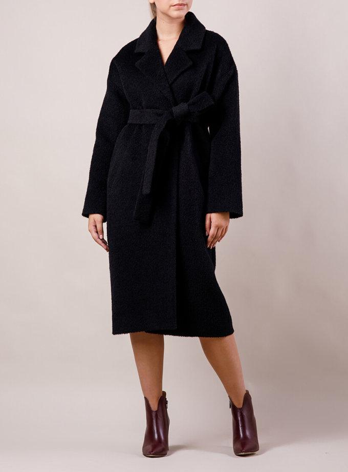 Утепленное пальто из шерсти букле MMT_024.-booked_of_black, фото 1 - в интернет магазине KAPSULA