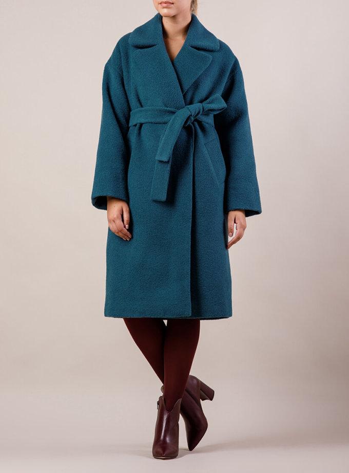 Утепленное пальто из шерсти MMT_081-blue, фото 1 - в интернет магазине KAPSULA