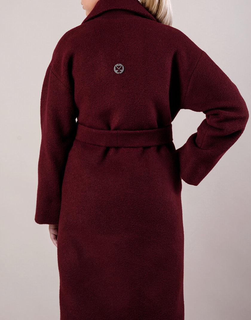 Утепленное пальто из шерсти MMT_081-burgundy, фото 1 - в интернет магазине KAPSULA