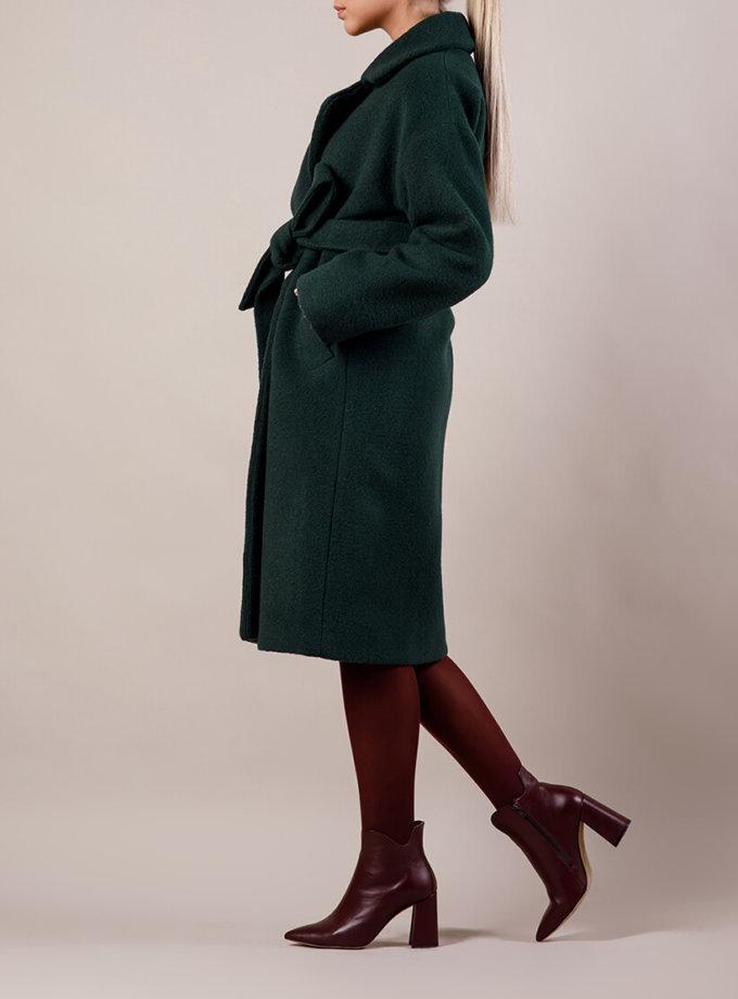 Утепленное пальто из шерсти MMT_081-green, фото 1 - в интернет магазине KAPSULA