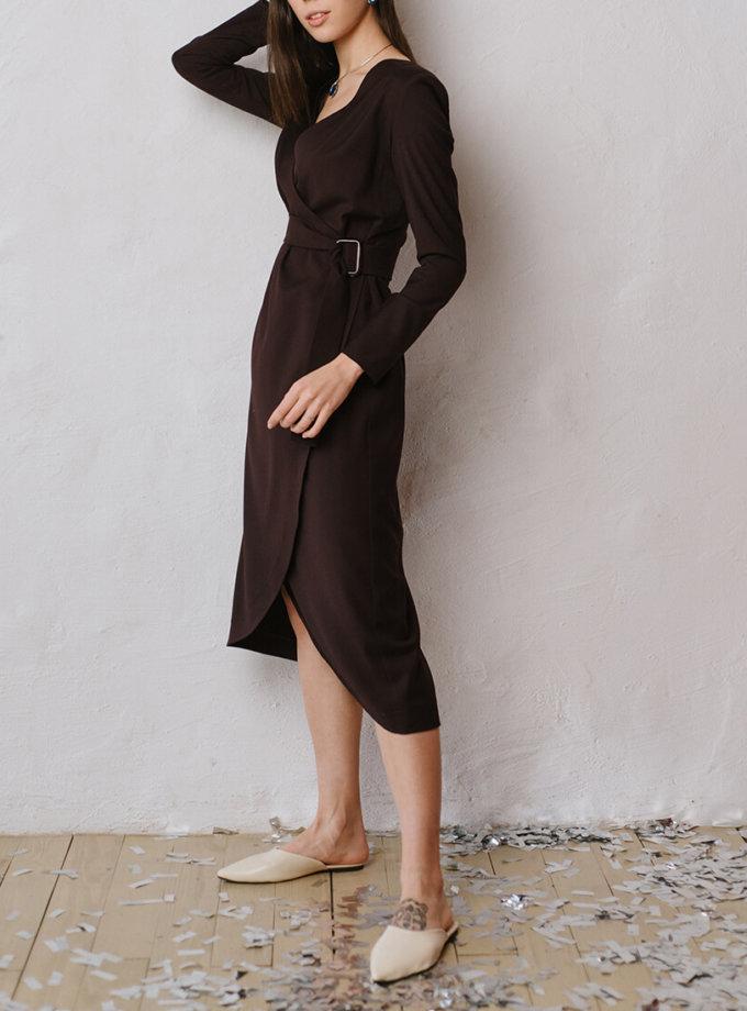 Платье на запах с поясом MNTK_MTF19DRS81, фото 1 - в интеренет магазине KAPSULA