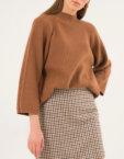 Вязаный свитер oversize PVL_S30180021, фото 2 - в интеренет магазине KAPSULA
