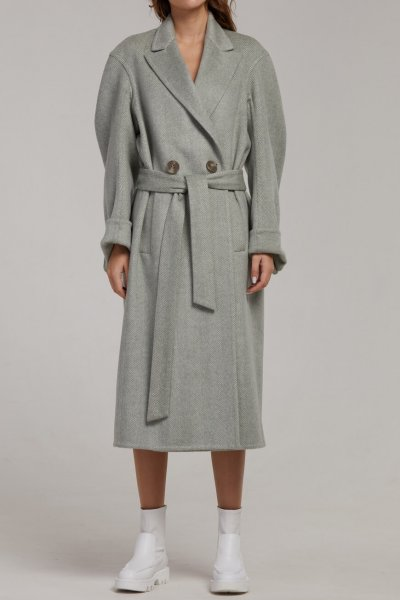 Двубортное пальто из шерсти SAYYA_FW945, фото 4 - в интеренет магазине KAPSULA