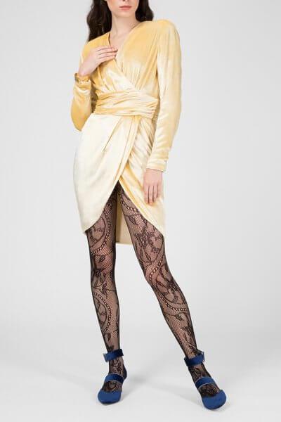 Платье на запах из бархата IVNR_FW18-19.20.3.199.001-1, фото 1 - в интеренет магазине KAPSULA