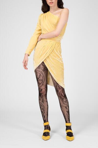 Платье на одно плечо из бархата IVNR_FW18-19.20.3.199.001, фото 1 - в интеренет магазине KAPSULA