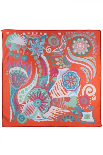 Шелковый платок Бирюзовые бусы 50*50 OLZ_KS_SS166, фото 1 - в интеренет магазине KAPSULA