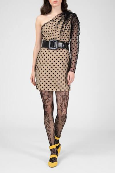 Платье на одно плечо в горох IVNR_FW18-19.20.9.2.12.001, фото 1 - в интеренет магазине KAPSULA