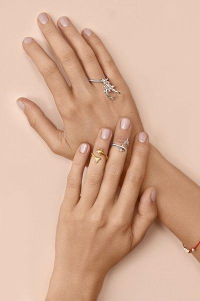 Серебряное кольцо с карпами YSB_K-790-4, фото 1 - в интеренет магазине KAPSULA