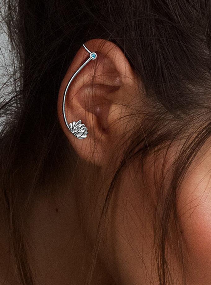 Кафф лотос из серебра на правое ухо YSB_C-790-5, фото 1 - в интернет магазине KAPSULA