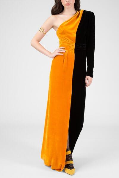 Платье макси на одно плечо IVNR_FW18-19.20.3.2-13.001, фото 1 - в интеренет магазине KAPSULA
