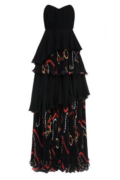 Платье макси комбинированное IVNR_REN-SS20.0667.528.34.001, фото 1 - в интеренет магазине KAPSULA