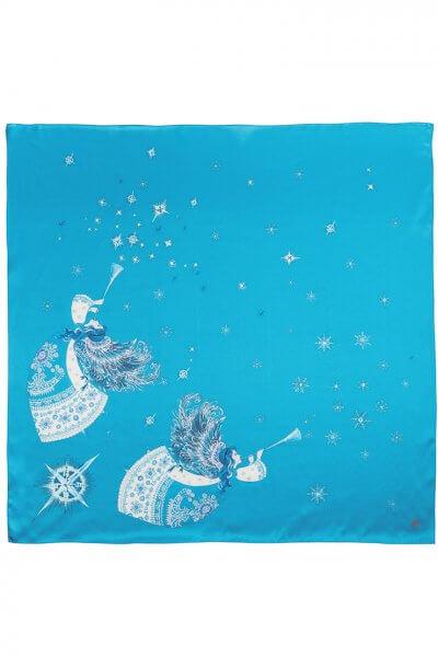 Платок с ангелами из шелка 65*65 OLZ_KS_SS173, фото 1 - в интеренет магазине KAPSULA