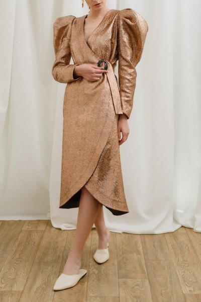 Платье на запах с поясом MNTK_MTF19DRS82, фото 1 - в интеренет магазине KAPSULA