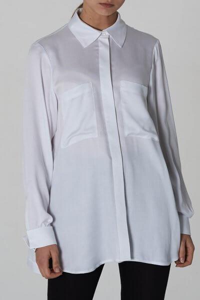 Рубашка прямого кроя из хлопка AIR_Dr_SHA1902-w, фото 1 - в интеренет магазине KAPSULA