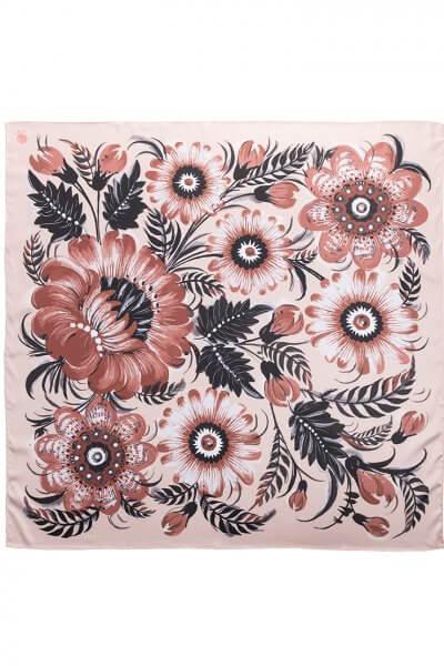 Шелковый платок Сливочное какао 50*50 OLZ_KS_SS168, фото 1 - в интеренет магазине KAPSULA