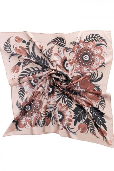 Шелковый платок Сливочное какао 90*90 OLZ_KS_SS167, фото 1 - в интеренет магазине KAPSULA