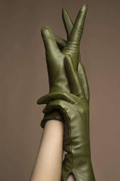 Кожаные перчатки с шелковой подкладкой TOBE_сl_03_gr_sl, фото 1 - в интеренет магазине KAPSULA