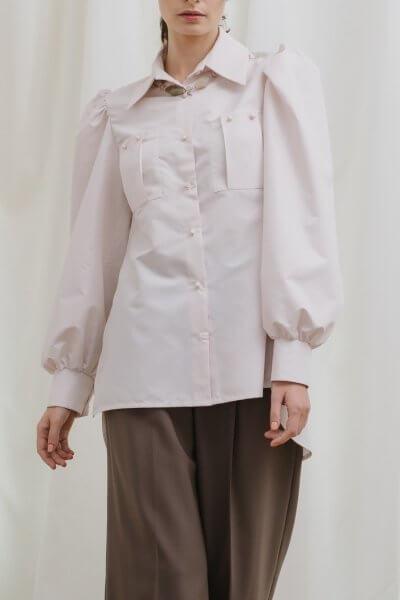 Удлиненная рубашка из хлопка MNTK_MTBL1921, фото 1 - в интеренет магазине KAPSULA