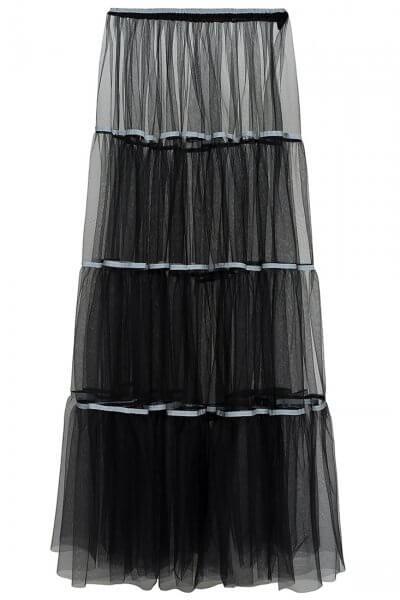 Прозрачная юбка из сетки IVNR_F19-20.528.2.005, фото 1 - в интеренет магазине KAPSULA