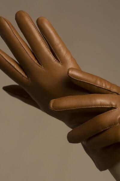 Зимние кожаные перчатки до запястья TOBE_cl_45_br_wl, фото 1 - в интеренет магазине KAPSULA