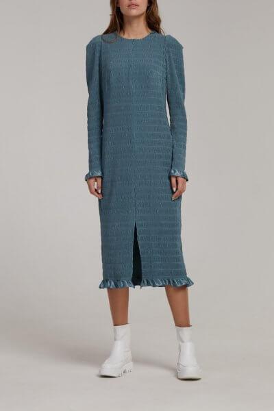 Плиссированное платье миди SAYYA_FW946, фото 1 - в интеренет магазине KAPSULA