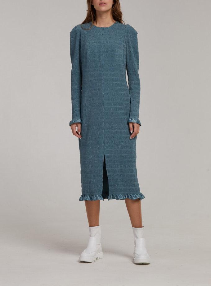 Плиссированное платье миди SAYYA_FW946, фото 1 - в интернет магазине KAPSULA