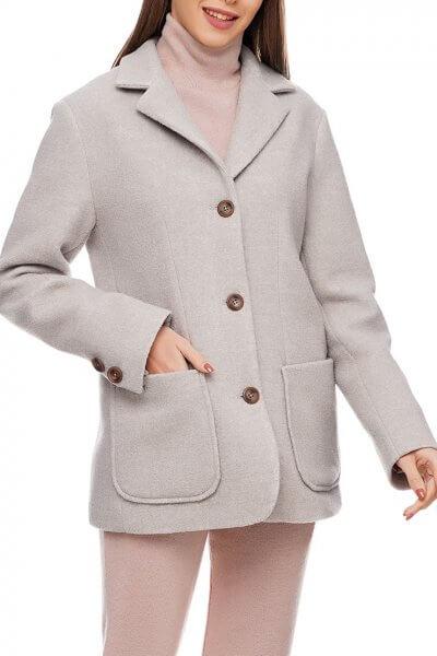 Жакет с накладными карманами  из шерсти AY_2908, фото 5 - в интеренет магазине KAPSULA